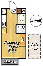 フローラ3[2階]の間取り