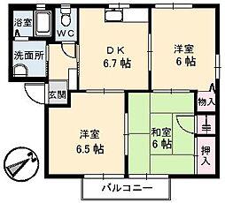 山口県下関市綾羅木新町4丁目の賃貸アパートの間取り