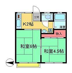 ラヤマハイム[1階]の間取り