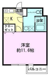 ハセガワマンションセブン[3階]の間取り