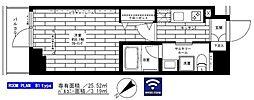 西武新宿線 鷺ノ宮駅 徒歩8分の賃貸マンション 3階1Kの間取り