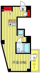 ベルソーネ目白 5階ワンルームの間取り