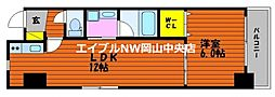 富田町二丁目マンション(仮) 9階1LDKの間取り