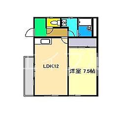 メゾン山崎[1階]の間取り