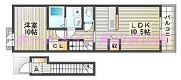 ソレイユSG(コッティ)[2階]の間取り