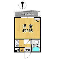 HS北野田[202号室]の間取り