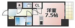 レジュールアッシュOSAKA今里駅前 8階1Kの間取り