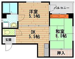 サンつじもとII[2階]の間取り
