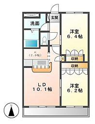 エクセルハイムN[1階]の間取り