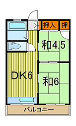 寺田コーポ[301号室]の間取り