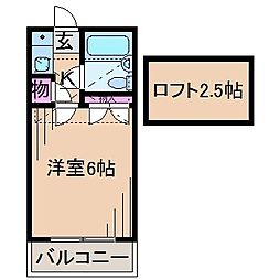 グランディ井田[2階]の間取り
