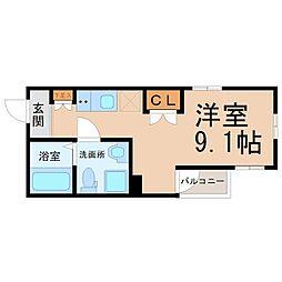 愛知県名古屋市昭和区鶴舞3の賃貸アパートの間取り