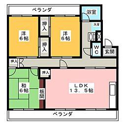 愛知県名古屋市緑区旭出2丁目の賃貸マンションの間取り