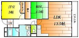 メゾンドール向陽[3階]の間取り