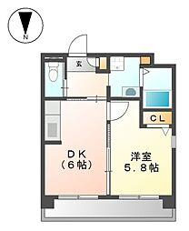 ソフィア藤[4階]の間取り