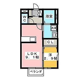 レジデンス310[1階]の間取り