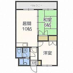 ロイヤルレインボー平岸A棟[2階]の間取り