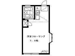 フラットミキ[1階]の間取り