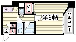 メゾン・ド・ヴィレ須磨潮見坂[2階]の間取り