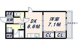 スイートリバティー[1階]の間取り