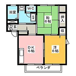 エスポワール藤A[2階]の間取り