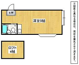 福岡県北九州市門司区梅ノ木町の賃貸アパートの間取り