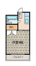 神奈川県相模原市南区上鶴間7丁目の賃貸マンションの間取り