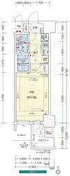 Osaka Metro谷町線 谷町九丁目駅 徒歩2分の賃貸マンション 13階1Kの間取り