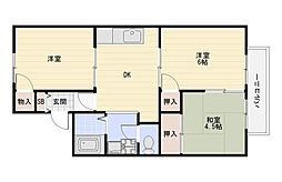 Maison大久保A棟B棟[2階]の間取り