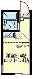 ユナイト 小倉モッキンポット[2階]の間取り