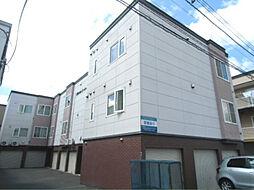 北海道札幌市北区百合が原4丁目の賃貸アパートの外観