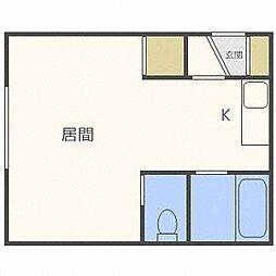 PLAZA IN厚別[1階]の間取り