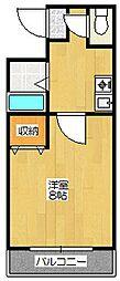 ハピネスoike[310号室]の間取り
