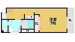 赤井マンション[402号室]の間取り