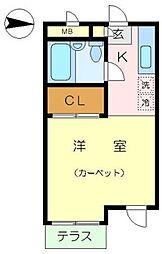 神奈川県横浜市泉区緑園2丁目の賃貸アパートの間取り