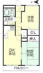 エポック新横浜[4階]の間取り
