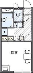 埼玉県川口市南鳩ヶ谷7の賃貸アパートの間取り