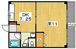 コーポ三樹[2階]の間取り
