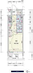 JR大阪環状線 鶴橋駅 徒歩3分の賃貸マンション 9階1Kの間取り