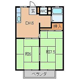 ウグイスハイツ[2階]の間取り