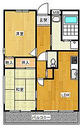ラ・クーレkasuga[4階]の間取り