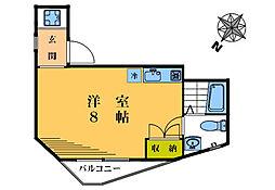 コモド桜山[205号室]の間取り