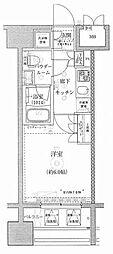 ライジングプレイス川崎[3階]の間取り