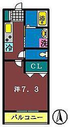 Nコートルピア[103号室]の間取り
