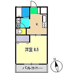 藤本ハイツ[3階]の間取り
