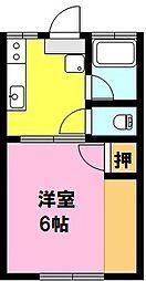 エタニティS本庄(家具家電付)[B211号室]の間取り