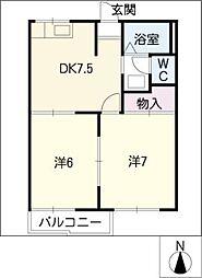 信積ハウス[2階]の間取り