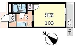 クリオ新子安弐番館[103号室]の間取り