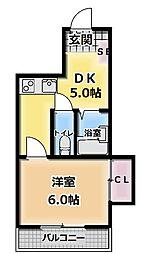 成和ハイツI[2階]の間取り