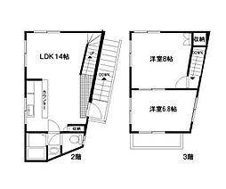 第6野本ビル[2-3号室]の間取り